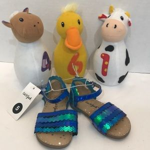 Other - Girl's Sandals Size 5 Fish Fin Back Toddler New